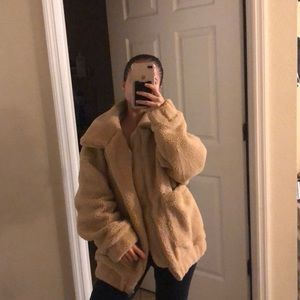 Small/Medium oversized Teddy sweater NEW w tags